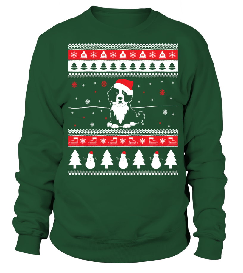Shop Christmas - Bernese Mountain Ugly Christmas Sweater Sweatshirt Unisex