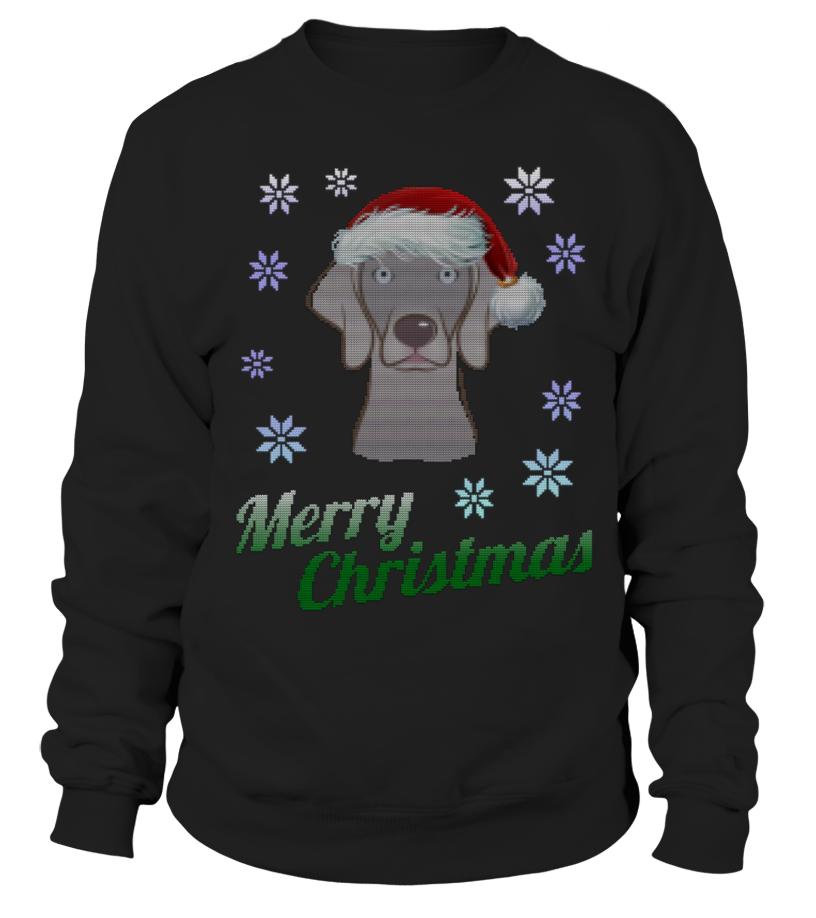 Awesome Christmas - UGLY CHRISTMAS WEIMARANER, DOG Sweatshirt Unisex