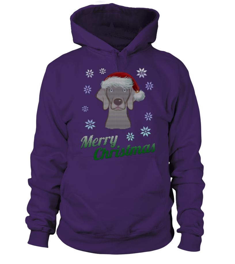 Awesome Christmas - UGLY CHRISTMAS WEIMARANER, DOG Hoodie Unisex
