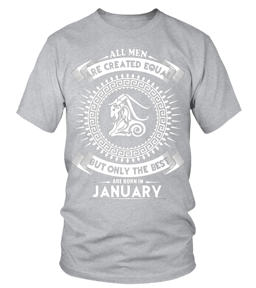 Shop January Birthday - The best man who was born in January T-shirt Round neck T-Shirt Unisex