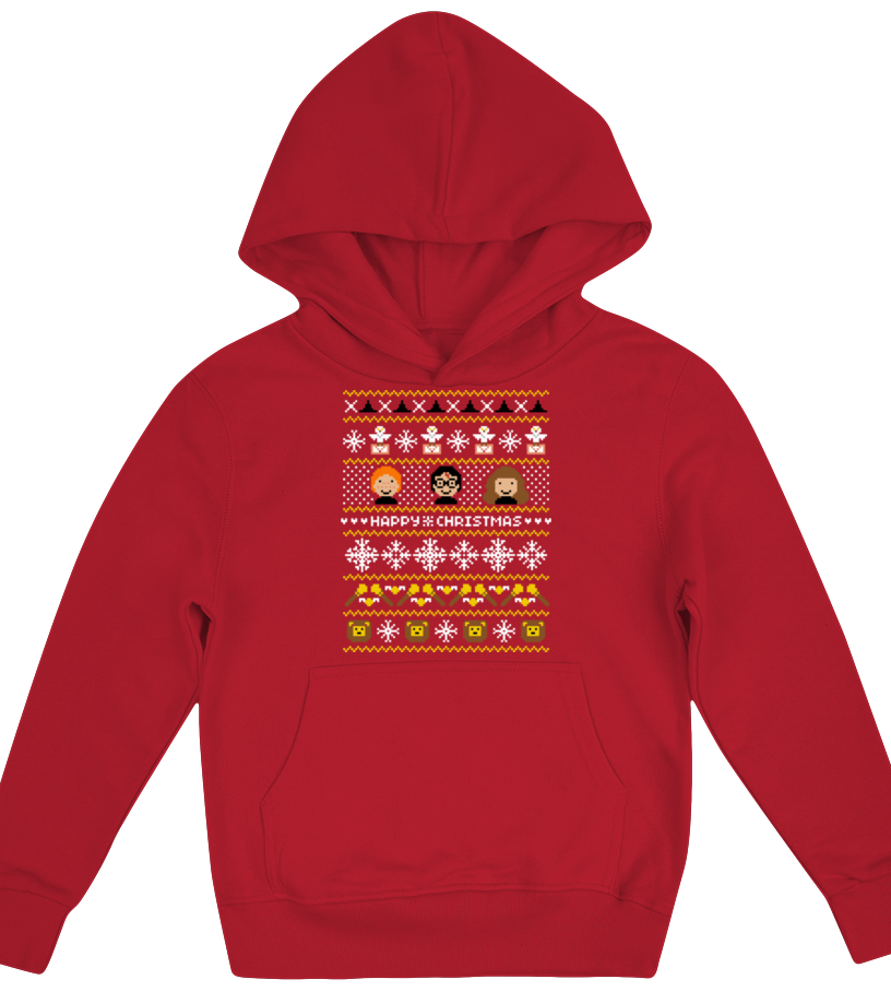Funny Christmas - Happy Christmas Harry Potter Inspired Kid Hoodie