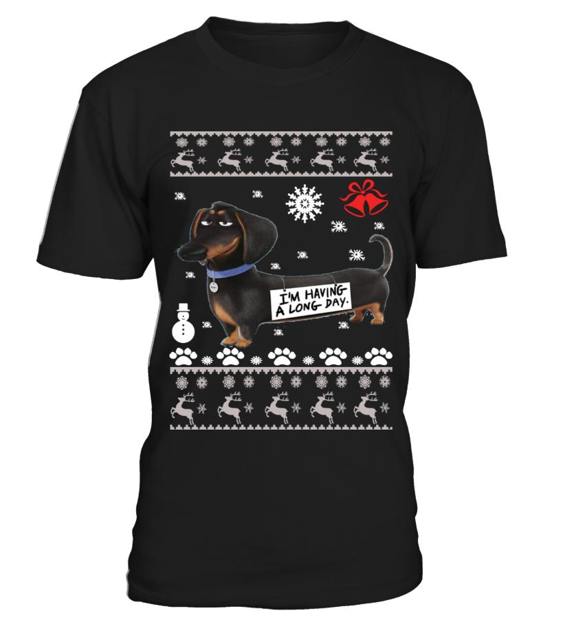 Amazing Christmas - Dachshund Ugly Christmas Sweater - Dachshund dogs Round neck T-Shirt Unisex