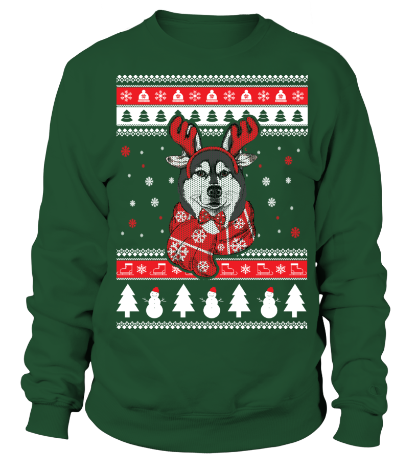 Husky Ugly Christmas Sweater