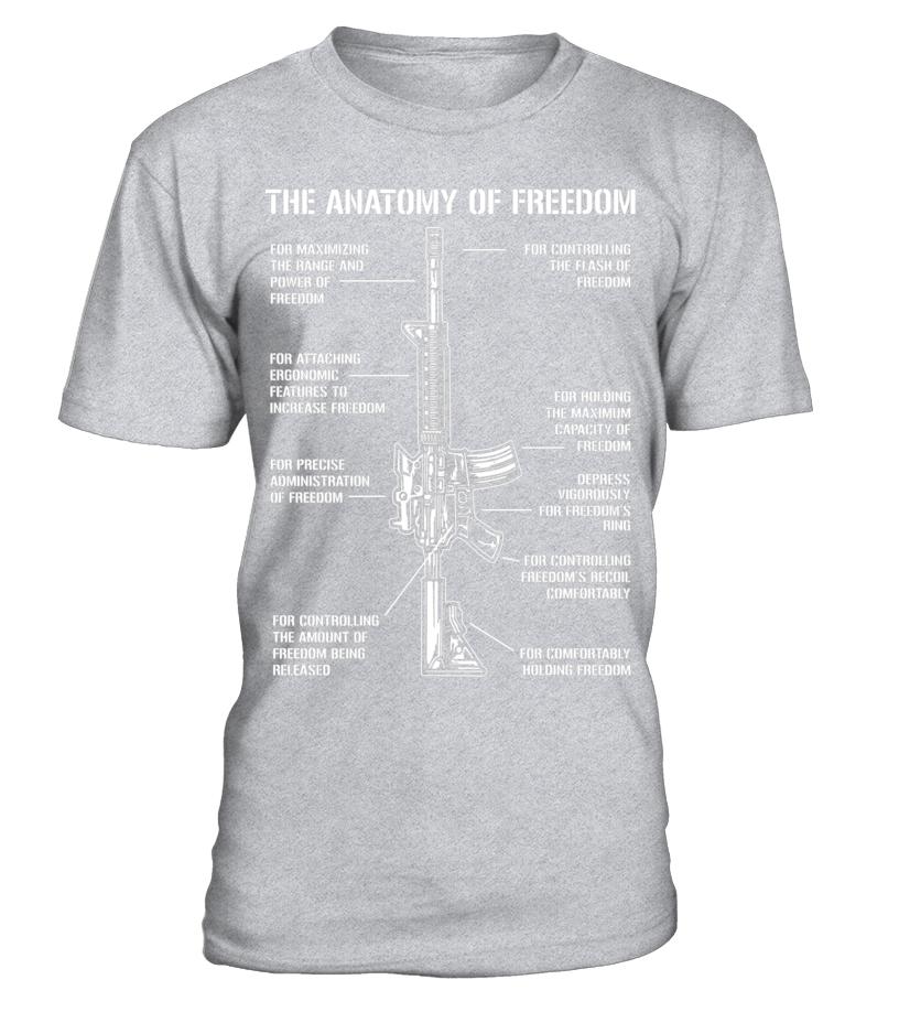 Assault Rifle AR15 AR 15 Gun Anatomy of Freedom - Funny Guns - T ...