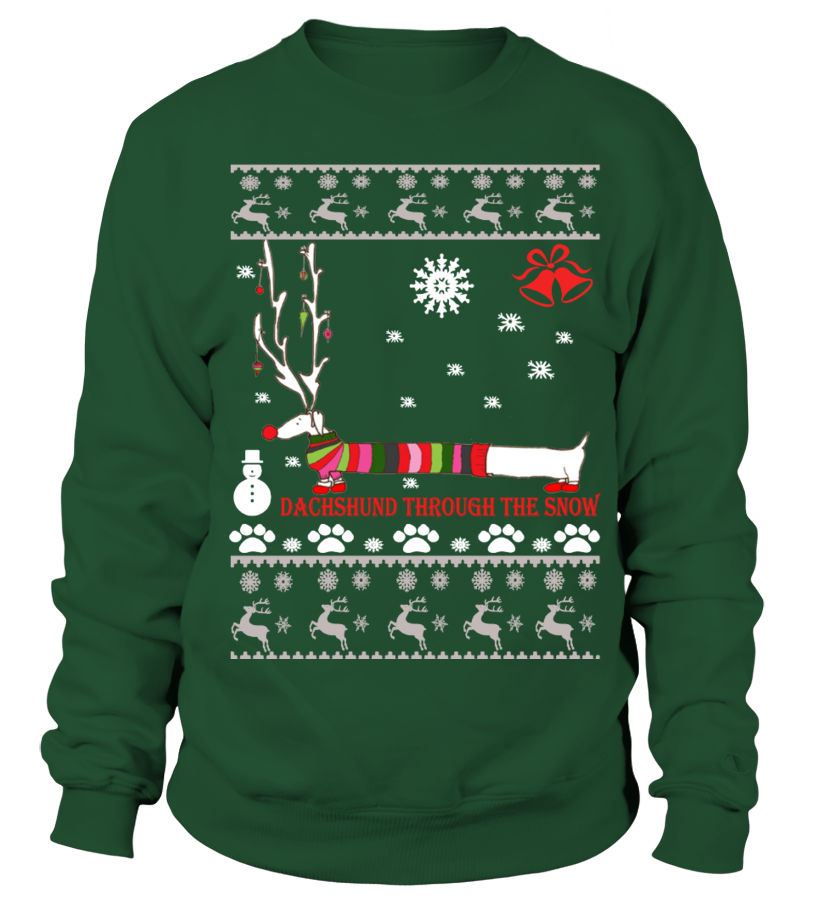 Gifts Christmas - Ugly Christmas Sweater - Dachshund dog Sweatshirt Unisex