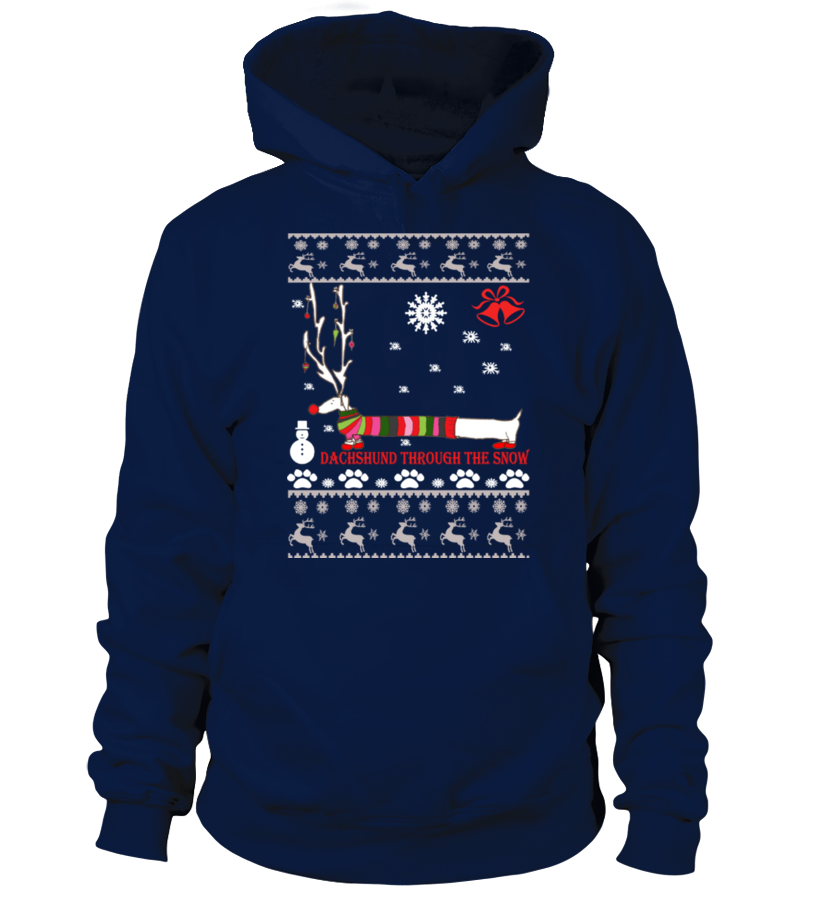 Gifts Christmas - Ugly Christmas Sweater - Dachshund dog Hoodie Unisex