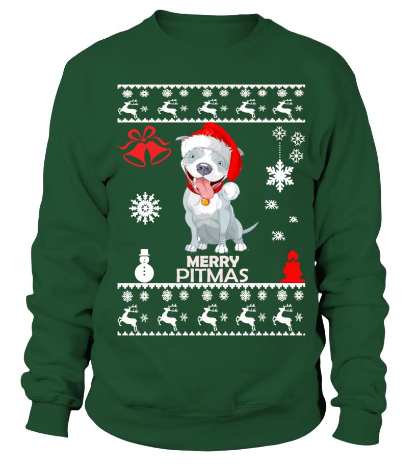 Best Christmas - Ugly Christmas Sweater - Pitbull Dog Sweatshirt Unisex
