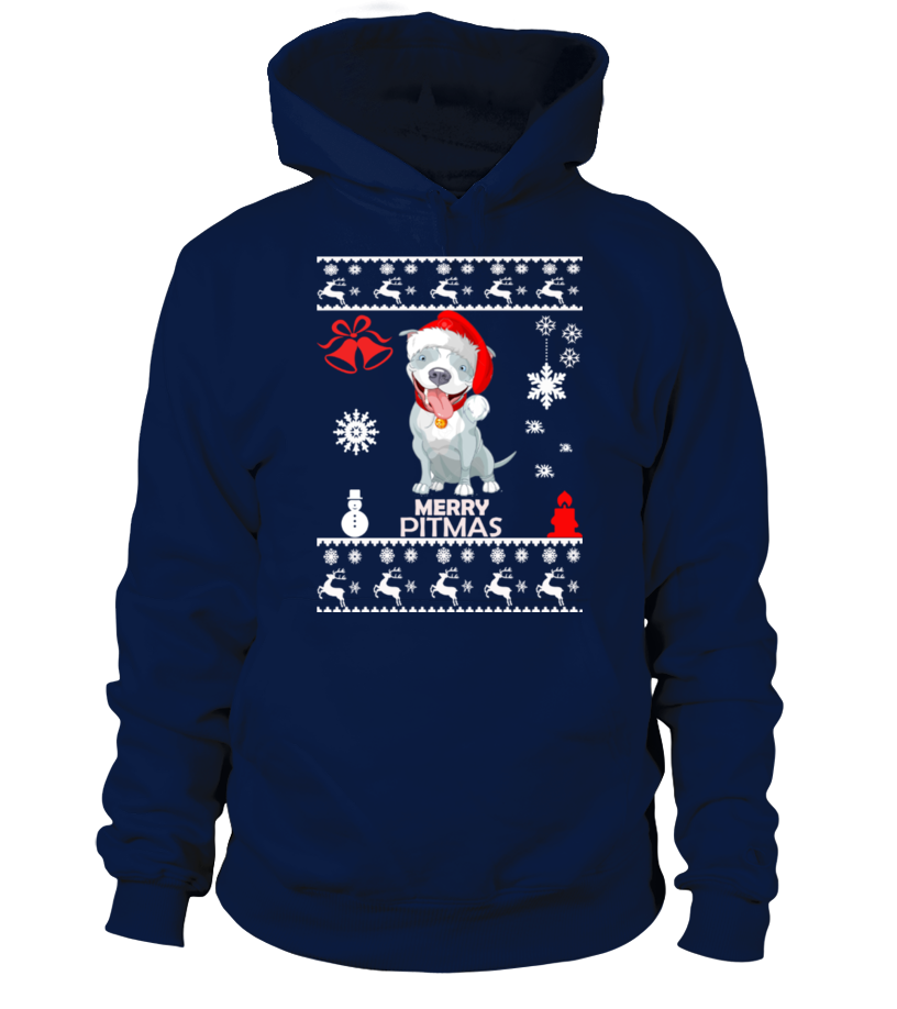 Best Christmas - Ugly Christmas Sweater - Pitbull Dog Hoodie Unisex