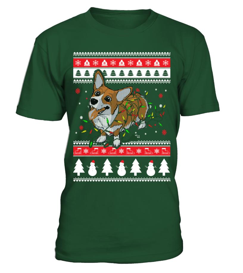 Best Christmas - Corgi Ugly Christmas Sweater Round neck T-Shirt Unisex