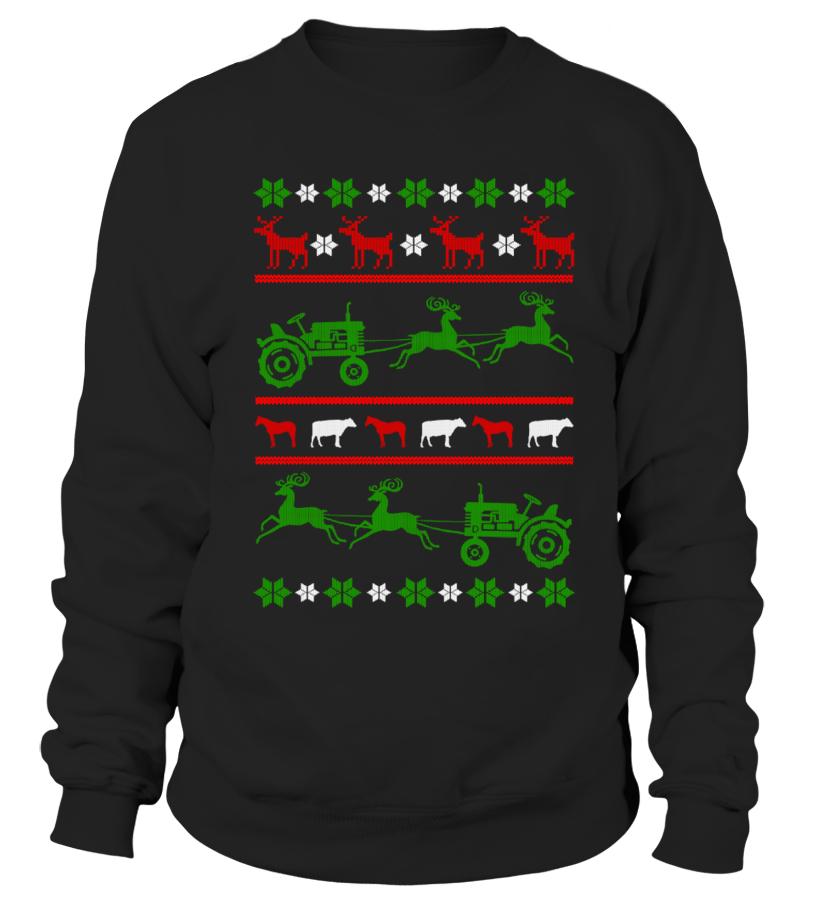 Farmer Tractor Ugly Christmas 1