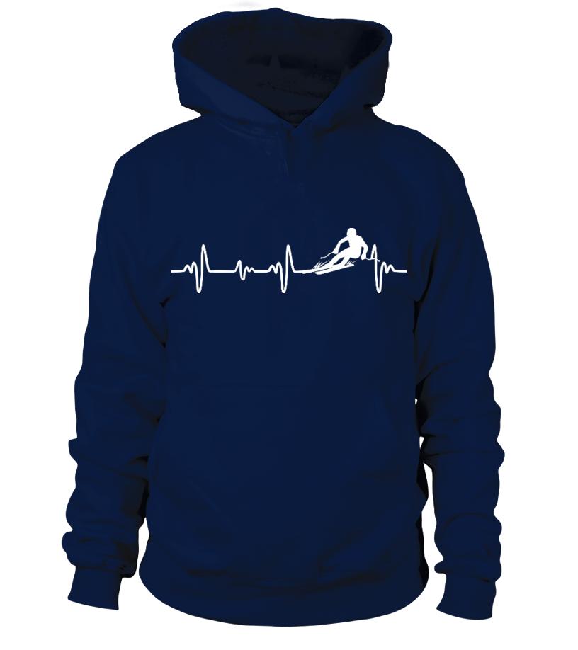 Wintersport - Ski Heartbeat - T-Shirt Hoodie