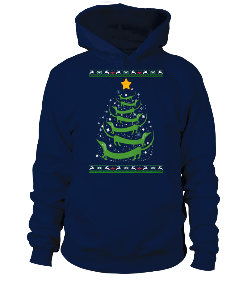 Gifts Christmas - Ltd Edition Dachshund Christmas Tree Hoodie Unisex
