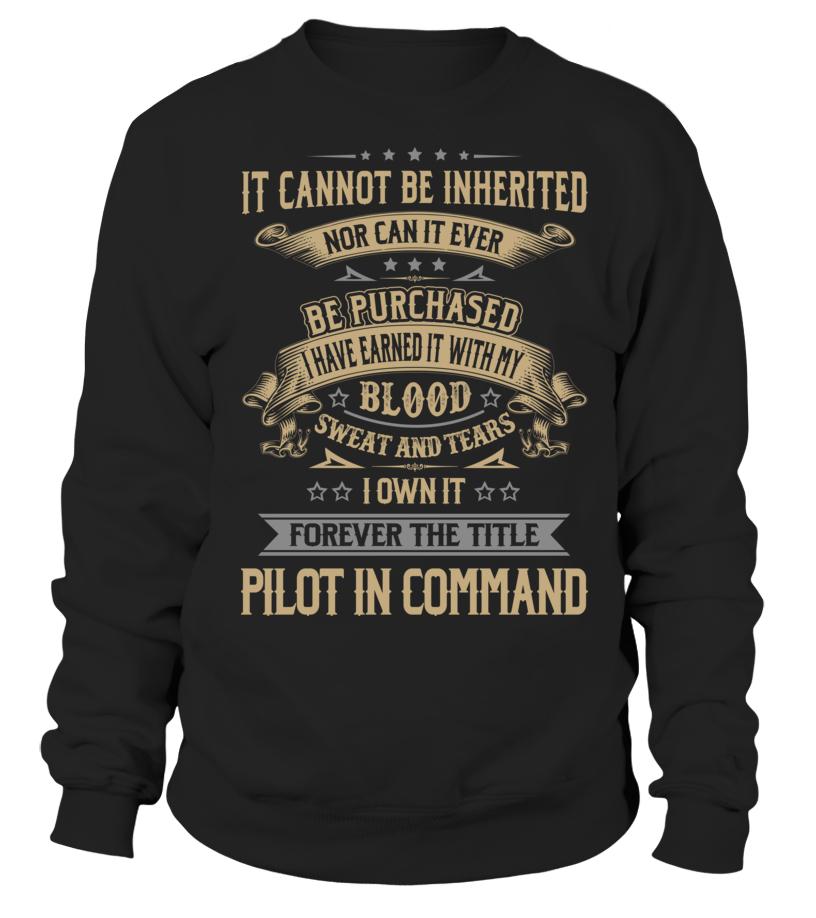 Amazing Pilot - Pilot In Command Sweatshirt Unisex