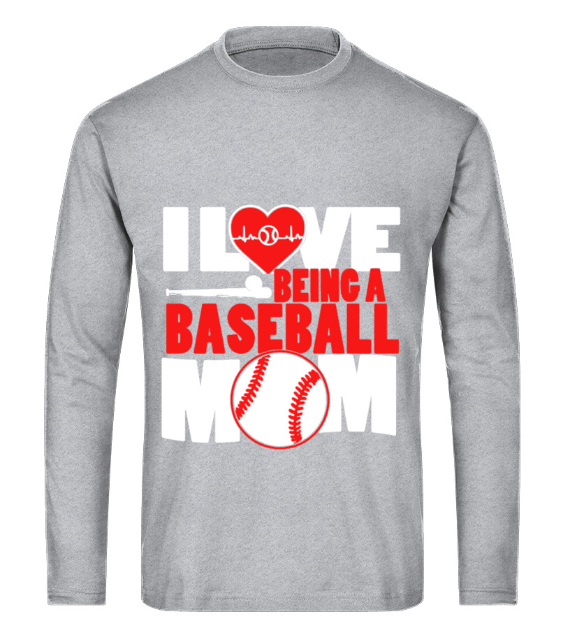 4f4cb749 Awesome Mother T-Shirt - Baseball Mom Shirt Long sleeved T-shirt Unisex