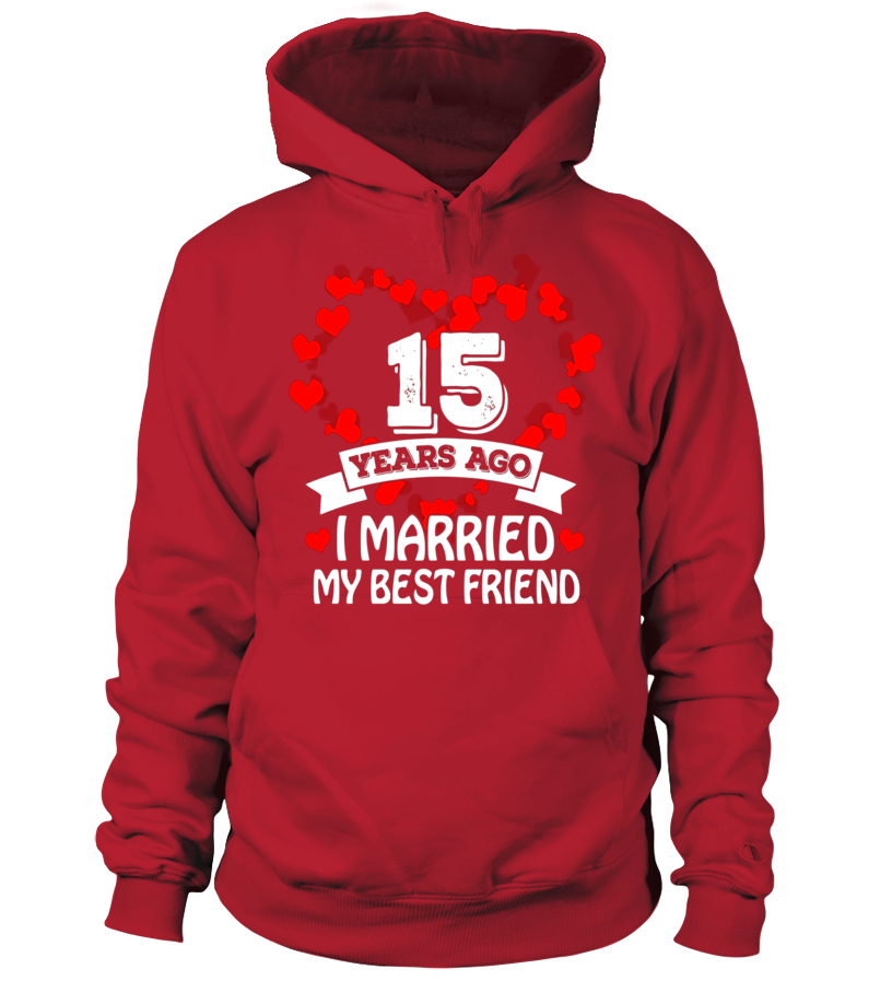15th Wedding Anniversary Gift Ideas. Husband And Wife T-Shir