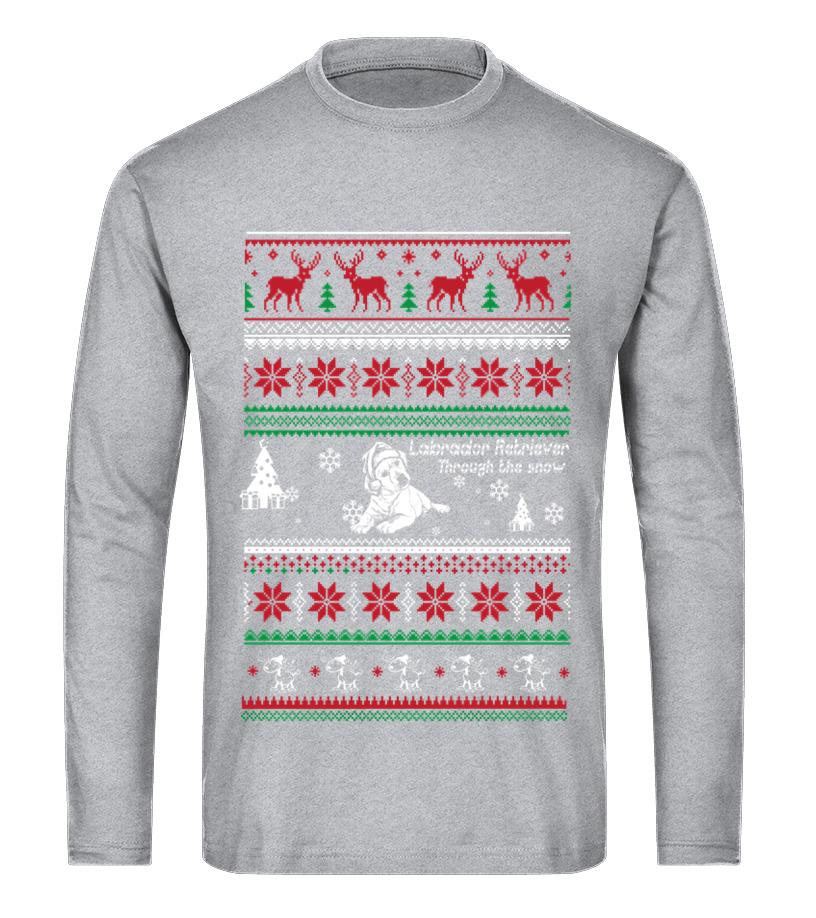 Best Christmas - Labrador retriever through the snow christmas Long sleeved T-shirt Unisex