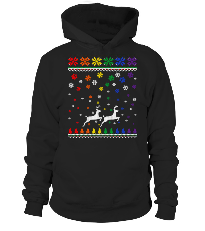 THROUGH  THE  SNOW  ( HOODIE ) - LGBT