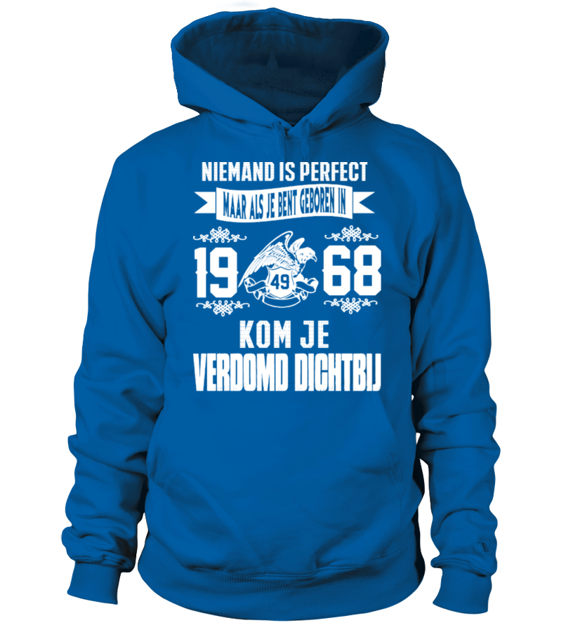 Niemand is perfect -1968-shirt