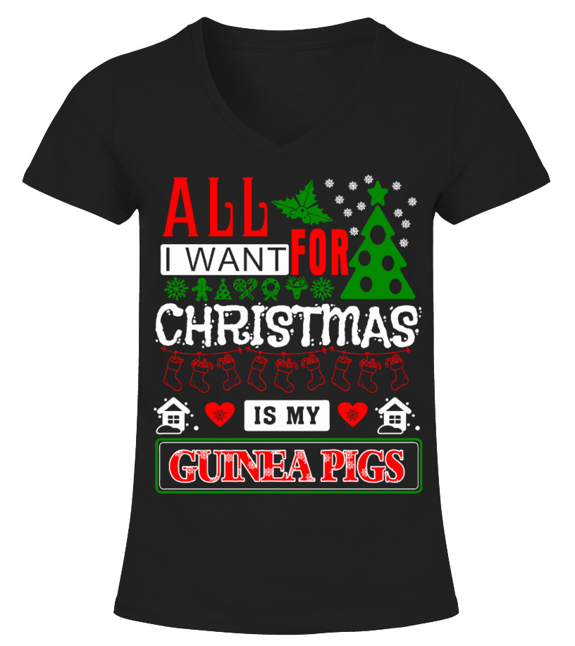 Awesome Christmas - All I Want For Christmas V-neck T-Shirt Woman