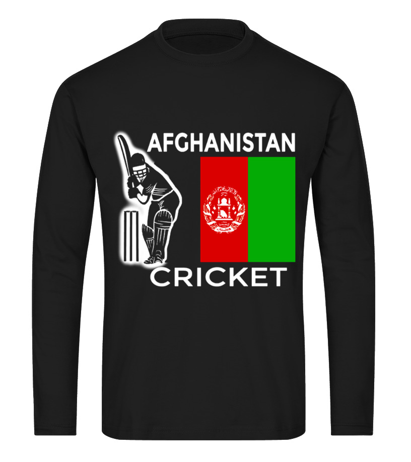 5add516ae Funny Cricket - Afghanistan Cricket player T Shirt Long sleeved T-shirt  Unisex