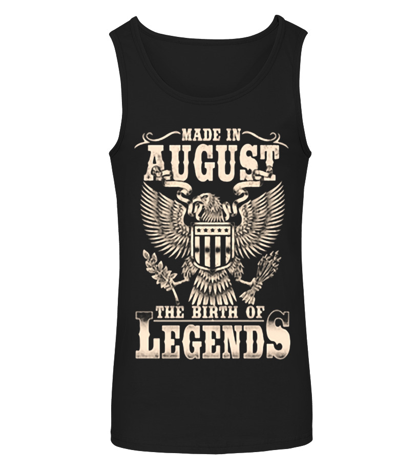 Funny August T-Shirt - AUGUST(1) Tanktop Unisex