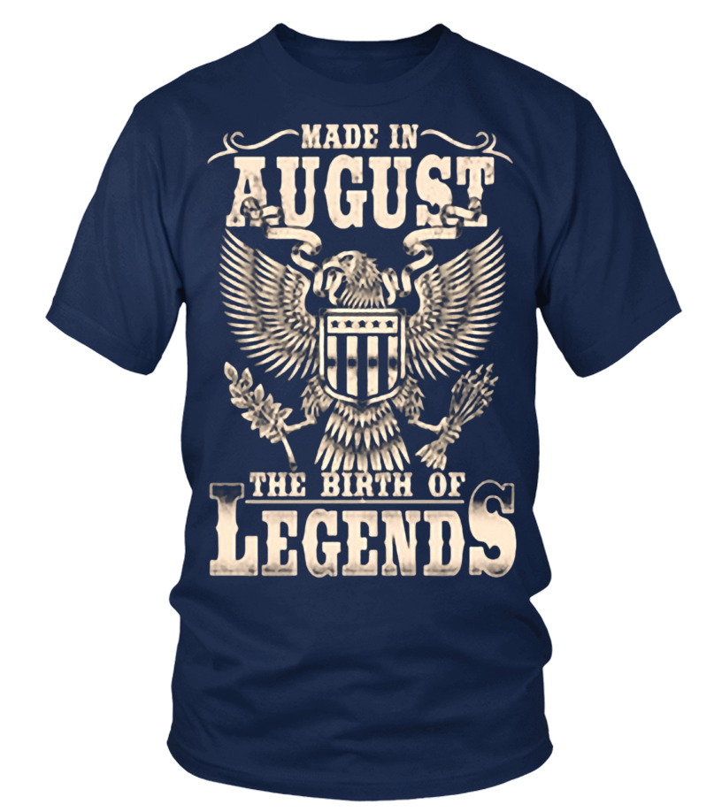 Funny August T-Shirt - AUGUST(1) Round neck T-Shirt Unisex