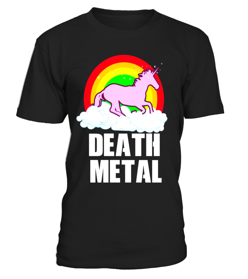 Funny Death Metal Unicorn Rainbow - T-Shirt - Heavy Metal