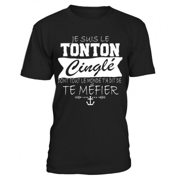 TEEZILY Sweat /à Capuche Je suis Le Tonton cingl/é Dont Tout Le Monde t/'a Dit de Te m/éfier Unisex
